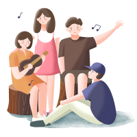 —Pngtree—four people sing dancing playing_3952289